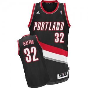 Maillot NBA Noir Bill Walton #32 Portland Trail Blazers Road Swingman Homme Adidas