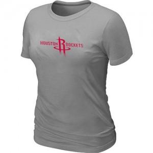 Houston Rockets Big & Tall Gris Tee-Shirt d'équipe de NBA 100% authentique - pour Femme