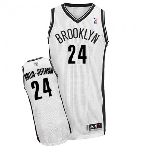 Maillot NBA Blanc Rondae Hollis-Jefferson #24 Brooklyn Nets Home Authentic Homme Adidas