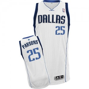 Maillot NBA Authentic Chandler Parsons #25 Dallas Mavericks Home Blanc - Homme