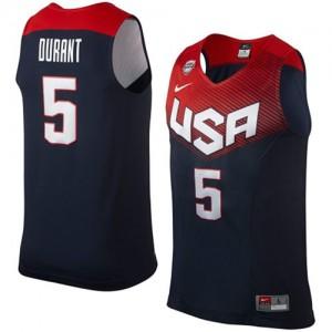 Maillot Nike Bleu marin 2014 Dream Team Swingman Team USA - Kevin Durant #5 - Homme