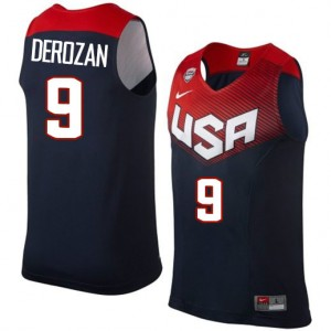 Maillot Nike Bleu marin 2014 Dream Team Swingman Team USA - DeMar DeRozan #9 - Homme