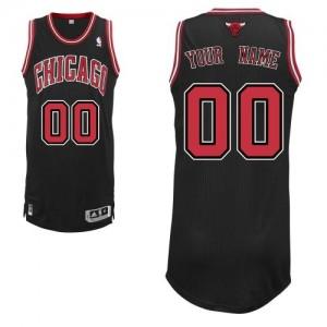 Chicago Bulls Authentic Personnalisé Alternate Maillot d'équipe de NBA - Noir pour Homme
