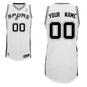 Maillot NBA Authentic Personnalisé San Antonio Spurs Home Blanc - Homme