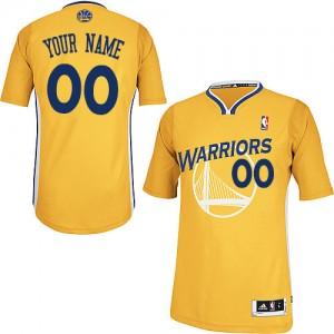 Golden State Warriors Personnalisé Adidas Alternate Or Maillot d'équipe de NBA prix d'usine en ligne - Authentic pour Homme