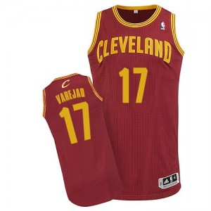 Maillot Authentic Cleveland Cavaliers NBA Road Vin Rouge - #17 Anderson Varejao - Homme