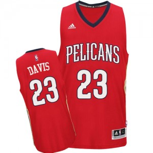 Maillot Authentic New Orleans Pelicans NBA Alternate Rouge - #23 Anthony Davis - Homme