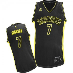 Maillot Adidas Noir Electricity Fashion Swingman Brooklyn Nets - Joe Johnson #7 - Homme