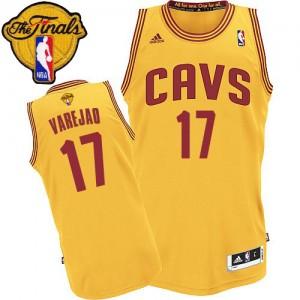 Cleveland Cavaliers Anderson Varejao #17 Alternate 2015 The Finals Patch Swingman Maillot d'équipe de NBA - Or pour Homme