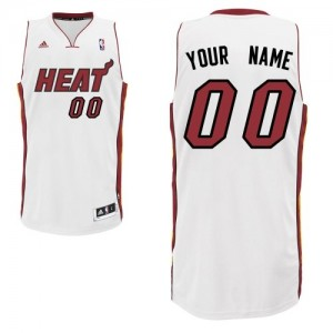 Miami Heat Swingman Personnalisé Home Maillot d'équipe de NBA - Blanc pour Enfants