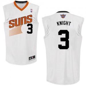 Maillot Adidas Blanc Home Swingman Phoenix Suns - Brandon Knight #3 - Homme