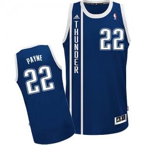 Oklahoma City Thunder #22 Adidas Alternate Bleu marin Swingman Maillot d'équipe de NBA vente en ligne - Cameron Payne pour Homme