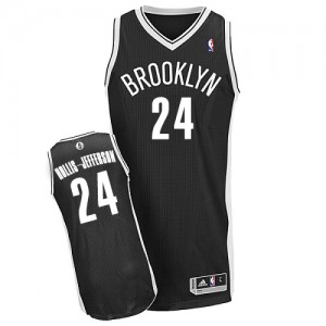 Maillot NBA Noir Rondae Hollis-Jefferson #24 Brooklyn Nets Road Authentic Homme Adidas