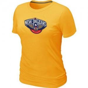 Tee-Shirt NBA Jaune New Orleans Pelicans Big & Tall Femme