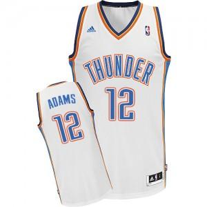 Maillot Adidas Blanc Home Swingman Oklahoma City Thunder - Steven Adams #12 - Homme