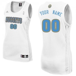 Maillot NBA Swingman Personnalisé Denver Nuggets Home Blanc - Femme