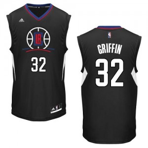 Maillot Adidas Noir Alternate Authentic Los Angeles Clippers - Blake Griffin #32 - Homme