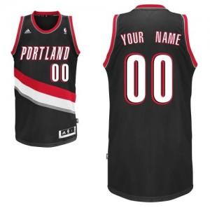 Portland Trail Blazers Personnalisé Adidas Road Noir Maillot d'équipe de NBA Discount - Swingman pour Enfants