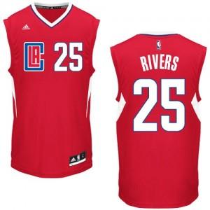 Los Angeles Clippers #25 Adidas Road Rouge Authentic Maillot d'équipe de NBA boutique en ligne - Austin Rivers pour Homme