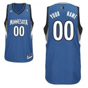 Maillot Adidas Slate Blue Road Minnesota Timberwolves - Swingman Personnalisé - Enfants