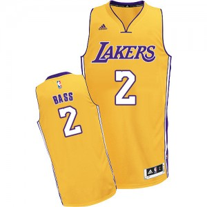 Maillot NBA Or Brandon Bass #2 Los Angeles Lakers Home Swingman Homme Adidas