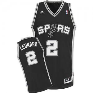 Maillot NBA Noir Kawhi Leonard #2 San Antonio Spurs Road Swingman Enfants Adidas