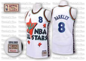 Maillot NBA Blanc Charles Barkley #8 Phoenix Suns Throwback 1995 All Star Authentic Homme Adidas