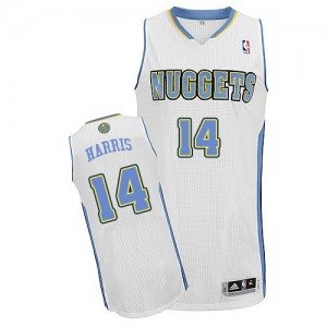 Maillot Adidas Blanc Home Authentic Denver Nuggets - Gary Harris #14 - Homme