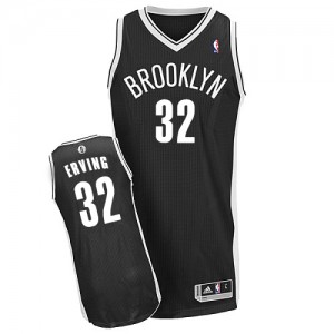 Maillot NBA Authentic Julius Erving #32 Brooklyn Nets Road Noir - Homme