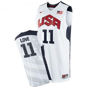 Team USA #11 Nike 2012 Olympics Blanc Swingman Maillot d'équipe de NBA Promotions - Kevin Love pour Homme