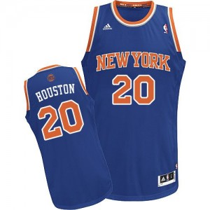 Maillot Adidas Bleu royal Road Swingman New York Knicks - Allan Houston #20 - Homme