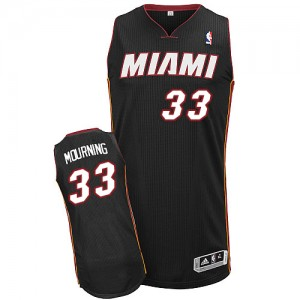 Maillot NBA Authentic Alonzo Mourning #33 Miami Heat Road Noir - Homme