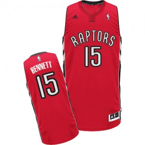 Maillot NBA Rouge Anthony Bennett #15 Toronto Raptors Road Swingman Homme Adidas