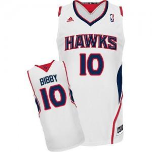 Maillot NBA Blanc Mike Bibby #10 Atlanta Hawks Home Swingman Homme Adidas