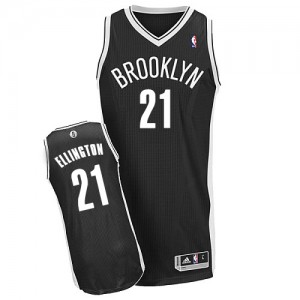 Maillot NBA Brooklyn Nets #21 Wayne Ellington Noir Adidas Authentic Road - Homme