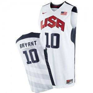Team USA #10 Nike 2012 Olympics Blanc Swingman Maillot d'équipe de NBA pas cher - Kobe Bryant pour Homme