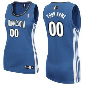Maillot NBA Minnesota Timberwolves Personnalisé Authentic Slate Blue Adidas Road - Femme