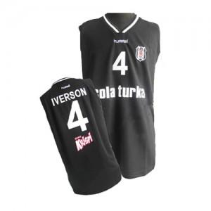 Maillot Adidas Noir Authentic Philadelphia 76ers - Allen Iverson #4 - Homme