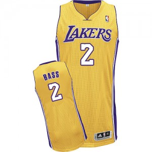Maillot NBA Authentic Brandon Bass #2 Los Angeles Lakers Home Or - Homme