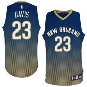 Maillot NBA Bleu marin Anthony Davis #23 New Orleans Pelicans Resonate Fashion Authentic Homme Adidas