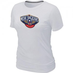 Tee-Shirt NBA Blanc New Orleans Pelicans Big & Tall Femme