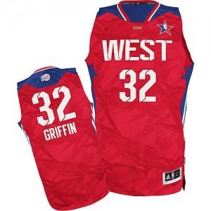 Los Angeles Clippers #32 Adidas 2013 All Star Rouge Authentic Maillot d'équipe de NBA 100% authentique - Blake Griffin pour Homme