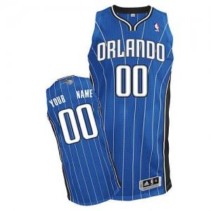 Maillot NBA Bleu royal Authentic Personnalisé Orlando Magic Road Homme Adidas