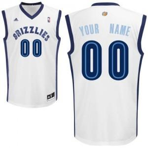 Maillot NBA Memphis Grizzlies Personnalisé Swingman Blanc Adidas Home - Homme