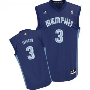 Maillot NBA Bleu marin Allen Iverson #3 Memphis Grizzlies Road Swingman Homme Adidas