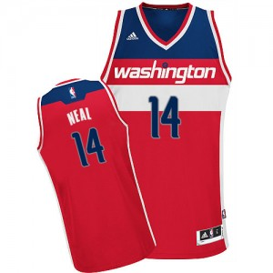 Maillot NBA Rouge Gary Neal #14 Washington Wizards Road Swingman Homme Adidas