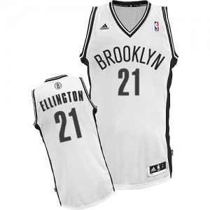 Maillot NBA Brooklyn Nets #21 Wayne Ellington Blanc Adidas Swingman Home - Homme