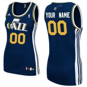 Utah Jazz Swingman Personnalisé Road Maillot d'équipe de NBA - Bleu marin pour Femme