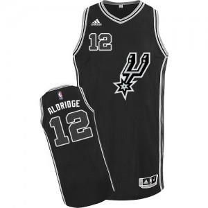 San Antonio Spurs #12 Adidas New Road Noir Authentic Maillot d'équipe de NBA Peu co?teux - LaMarcus Aldridge pour Homme
