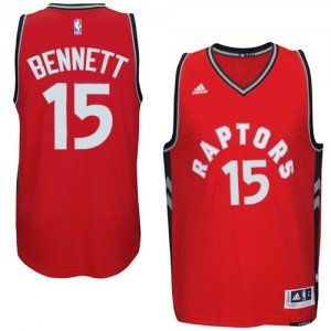 Maillot NBA Toronto Raptors #15 Anthony Bennett Rouge Adidas Authentic climacool - Homme
